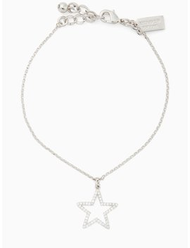 Scrunched Scallops Pave Star Bracelet by Kate Spade