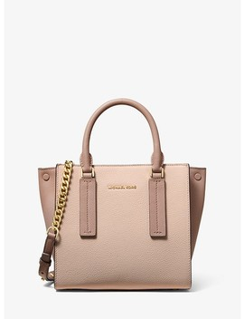 Alessa Small Color Block Pebbled Leather Satchel by Michael Michael Kors