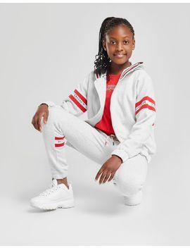 Tommy Hilfiger Girls' Logo Sleeve Full Zip Hoodie Junior by Tommy Hilfiger