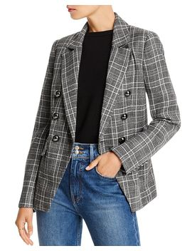 evelyn-double-breasted-plaid-blazer---100%-exclusive by lini