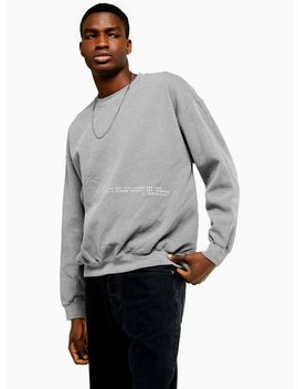 Black Wash Placement Jumper by Topman
