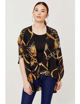 Light Anchor Print Poncho by Ardene