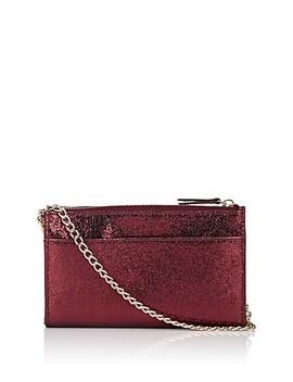 Hannah Metallic Leather Crossbody Bag by Barneys New York