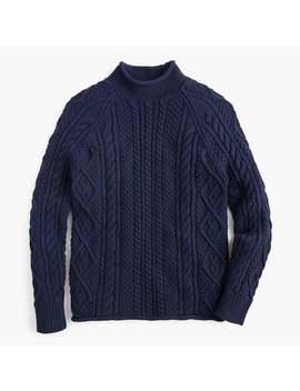 1988 Rollneck™ Sweater In Cable Knit Cotton by J.Crew