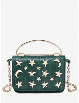 Star Crescent Rivet Chain Shoulder Bag by Dress Lily