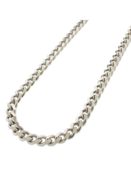 """Sterling Silver 5mm Miami Cuban Curb Link Thick Solid 925 Rhodium Chain Necklace 24"""" by J&L Fashion"""