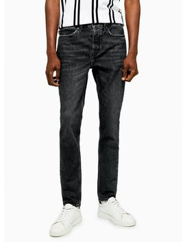 Wash Black Authentic Stretch Skinny Jeans by Topman