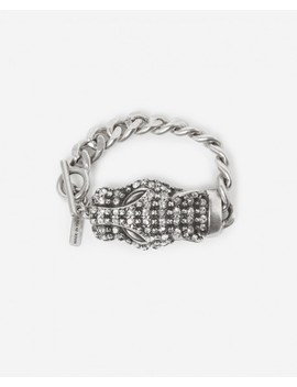 Silver Bracelet With Chain And Leopard Head by The Kooples