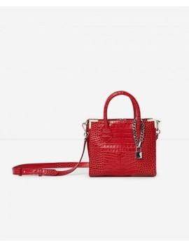 Medium Red Ming Bag With Crocodile Print by The Kooples