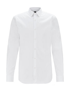 Slim Fit Shirt With Mother Of Pearl Buttons by Boss
