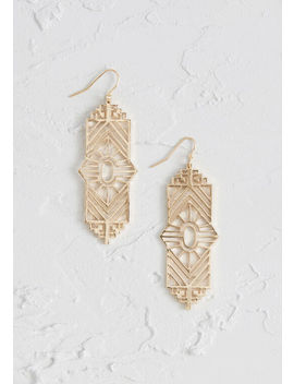 Absolutely Angular Earrings by Modcloth