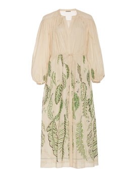 Julienne Printed Cotton Maxi Dress by Three Graces London