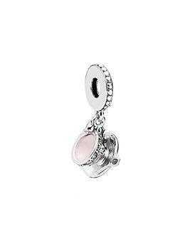 Pandora Silver & Pink Enamel Enchanted Tea Cup Dangle Charm by Pandora
