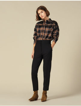 High Waisted Classic Trousers by Sandro Paris