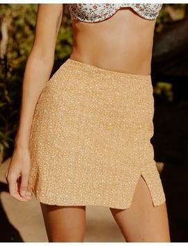 Floral Mini Split Skirt by Glassons