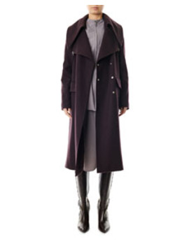 Recycled Wool Maxi Coat by Tibi