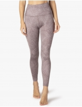 Lux Etched Fans High Waisted Midi Legging by Beyond Yoga