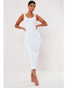 Picot Trim Cami Seam Detail Midi Dress by Missguided