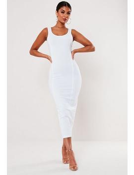Picot Trim Cami Seam Detail Midi Dress by Missguided