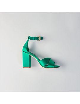 Heeled Satin Sandals by Maje