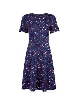 Heart Print Short Sleeve T Shirt Dress by Dorothy Perkins