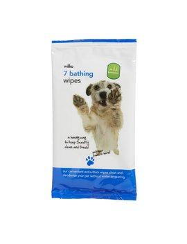 Wilko 7 Pack Dog Bathing Wipes Wilko 7 Pack Dog Bathing Wipes by Wilko