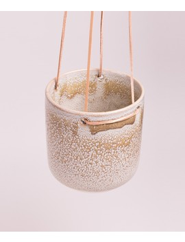 Broste Flowerpot Almas Hanging Taupe by Broste