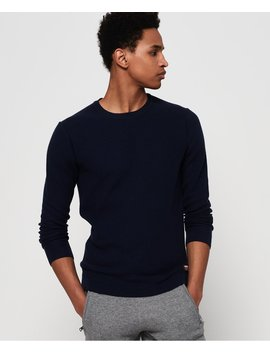 Supima® Cotton Crew Jumper by Superdry