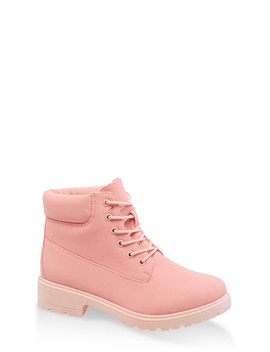 Colored Lace Up Work Boots by Rainbow