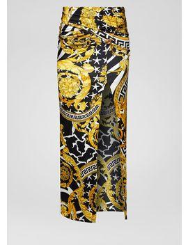 Savage Barocco Print Maxi Skirt by Versace