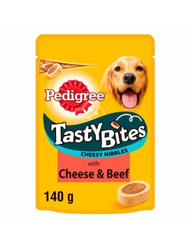 Pedigree Tasty Bites Cheesy Nibbles With Beef And Cheese Dog Treats 140g Pedigree Tasty Bites Cheesy Nibbles With Beef And Cheese Dog Treats 140g by Wilko
