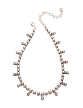 Lovett Crystal & Pearly Necklace by Dannijo