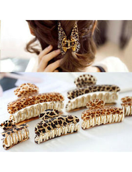 Women Girls Acrylic Leopard Hair Clip Claws Hair Print Style Accessories  Rl by Unbranded