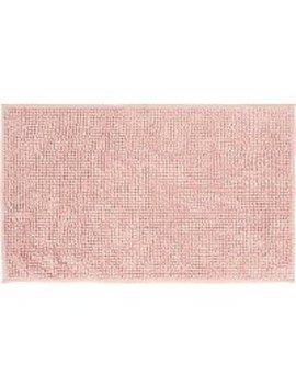 Dusky Pink Chenille Bath Mat by Asda