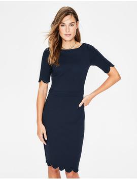 Emma Ponte Dress   Navy by Boden