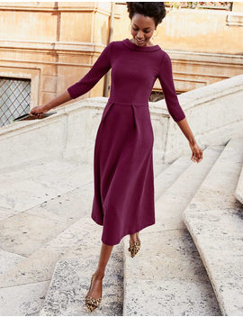 Violet Ottoman Dress   Ruby Ring by Boden