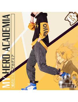 Boku No Hero Academia Kaminari Denki Cosplay Costume Daily Fashion Coat Hoodie Halloween Gift For Man Male Comics Cosplay Costum   by Ali Express
