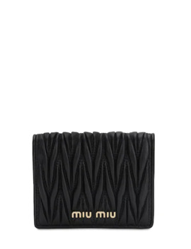 Compact Quilted Leather Wallet by Miu Miu