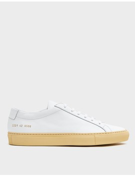 Vintage Sole Achilles Low Sneaker In White by Common Projects