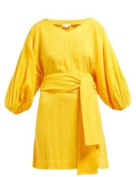 Arya Tie Waist Cotton Dress by Rhode