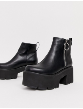 Lamoda   Tough Love   Bottines Chelsea épaisses   Noir by Lamoda