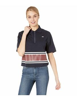 Logo Stripe Polo Top by Juicy Couture