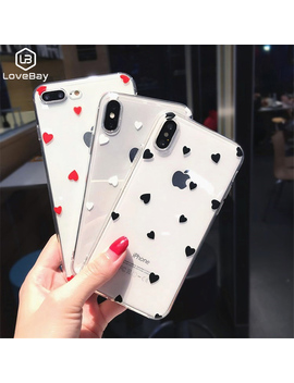 Lovebay Love Heart For I Phone 6 6s 7 8 Plus X Xr Xs Max 5 5 S Se Phone Case Cute Cartoon Wave Point Clear Soft Tpu For I Phone X by Ali Express.Com