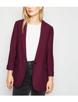 Burgundy Long Sleeve Blazer by New Look