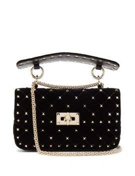 Rockstud Spike Velvet Cross Body Bag by Valentino