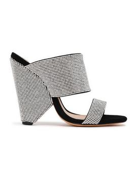 Kulap Crystal Embellished Suede Mules by Schutz