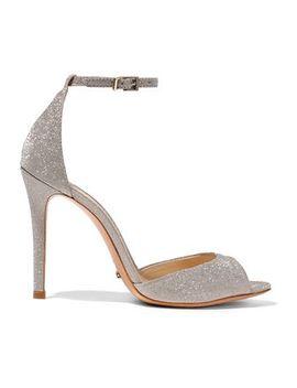 Saasha Lee Glittered Satin Sandals by Schutz