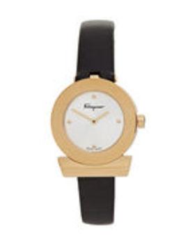 Sfpd00219 Gold Tone & Black Watch by Salvatore Ferragamo