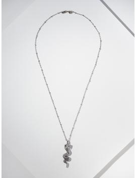 The Cobra Necklace   Silver by Vanessa Mooney
