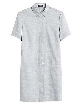 Button Down Shirtdress by Theory